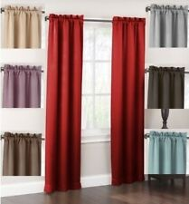 2 Piece Window Room Blackout Thermal Back Darkening Fabric Lined Curtains Drapes