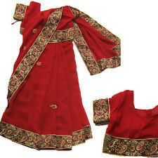 Ready to wea Kids Girl Childrens India Costumes India saree fancy dress costume