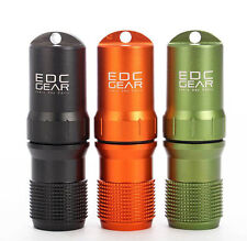 CNC Machined Aluminum EDC Survival Waterproof Pill/Match Case Box Container Lid