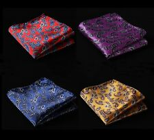 YA Paisley Men Silk Satin Pocket Square Hanky Wedding Party Handkerchief