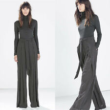 ZARA BLACK/WHITE WIDE-LEG TROUSERS WITH SMALL DOTS  XS-XL  Ref. 7771/061