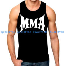 New Men's MMA Black Tank Top bjj muscle workout gym boxing fitness muay thai