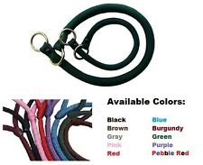Timberwolf American Choke Rolled Rope Slip Collar Dog Puppy ALL SIZES/COLORS NEW