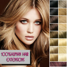 real silky Clip In Remy Human Hair Extensions Full Head Brown Blonde Stright hot
