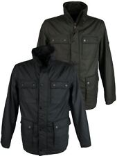 Mens Ben Sherman Military Jacket/ Coat Coated Cotton Black or Khaki