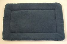 Blue Sherpa Fleece Dog/Pet Crate/Carrier Mat, Pad,Quilt, Bed - 3 sizes available