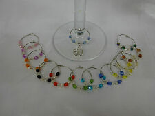 Birthday Gift Wine Glass Charm 18th 21st 30th 40th 50th 60th on a Card Keepsake