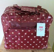 SEWING MACHINE BAG CARRY CASE STURDY VINYL Spot Design 3 Colours Available BNWT