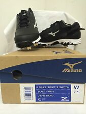 Mizuno 9 Spike swift 3 switch black / White  Women's softball cleats