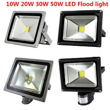 PIR 10W 30W 50W LED SMD Flood Light RGB Day/Warm White Waterproof IP65 Outdoor