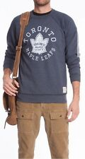 NWT Mens LEAFS CREW NECK Roots Sweat Shirt in Heather Navy - URBAN SASSY