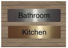 HOUSE or OFFICE DOOR SIGNS in SILVER, GOLD or WHITE: Bathroom Guest Room Gym...