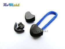 Black/White Plastic Zipper Pull Cord Ends Lock Stopper For Paracord