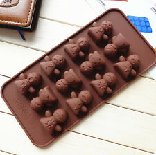 Merry Chrismas DIY Silicone Muffin Candy Biscuit Cake Mold tools cookie cutters