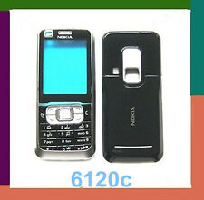 For Nokia 6120 6120c full housing front cover battery door keypad black white