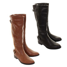 Ladies Claudia Ghizzani Knee High Riding Boots With Elastic Panel In 2 Colours