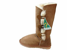 Australian Made Genuine Sheepskin 3 Button Style UGG Boots Chestnut Colour