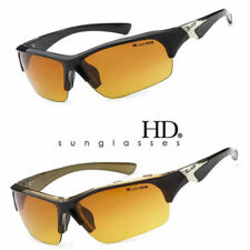 SPORT HD NIGHT DRIVING VISION SUNGLASSES YELLOW HIGH DEFINITION WRAP GLASSES
