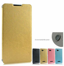 Hot Stand PU Leather Flip Case Cover + Screen Protector for Cell Phones