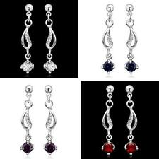 WHOLESALE HOT FASHION 925 STERLING SILVER FILLED AUSTRIAN CRYSTAL STUD EARRINGS