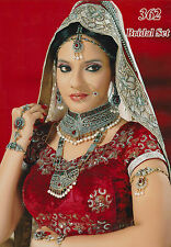 INDIAN BOLLYWOOD BRIDAL PARTY WEAR JEWELLERY SET VARIOUS COLOURS GOLD NEW
