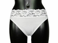 Marks & Spencer 5 pack Cotton Rich High Leg Knickers with Lace sizes 8 to 22
