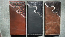 Montana West Mens Leather Western Rodeo Wallet Tooled Pick Color BR-W005