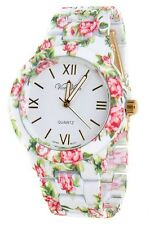 Latest Fashion Vice Versa Soft Touch Floral Print Band LADY Women's Watch