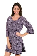 "Cotton Kaftan Dress or beach cover up from Spirituelle - ""Cosmic Purple"" S-3XL"