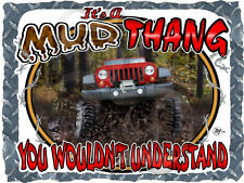 JEEP JK WRANGLER RUBICON MUD THANG BOGGING PRINTED T-SHIRT NEW SIZE SMALL-4XL