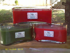 WOODWICK LUX GLASS CANDLES, 3 SIZES, NEW PRODUCT