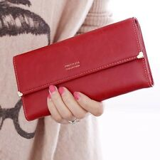 Fashion Convenient  Lady Retro Purse Clutch Wallet Simple Long Card Holder Bag