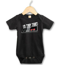 I'd Tap That Gamer Geek Black One Piece Baby Bodysuit Creeper Nintendo CoLoR