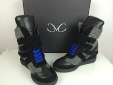 Monika Chiang Artemys Black & Gray Sneakers Shoes NIB $385 Suede Leather