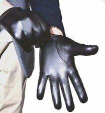 New Men's Police Tactical 100% Real Leather Gloves *Black/Brown