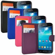 PU LEATHER CREDIT CARD SLOT WALLET CASE FOR SAMSUNG SMARTPHONE FLIP COVER POUCH