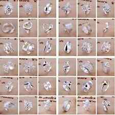 Wholesale Lady/women Classic hot fashion 925 Sterling Silver Rings Size 8