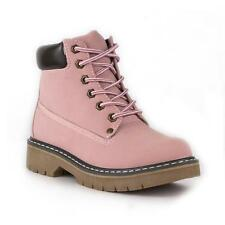 Lilley - Womens Lace Up Ankle Boot in Pink - Sizes 3,4,5,6,7,8,9