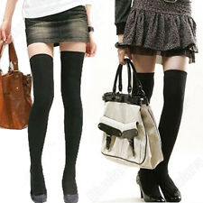 New Women Girl Lovely Over The Knee Cotton Socks Thigh High Cotton Stockings Hot