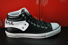 CONVERSE CT PADDED COLLAR 2 MID HI HIGH TOPS TRAINERS LEATHER BLACK WHITE 115662