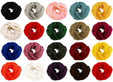Women Solid Wool Neck Loop Circle Cowl Shawl Infinity Knit Fashion Scarf Scarves