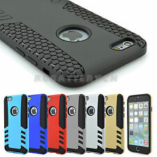 """Hybrid Shockproof Rugged Rubber Hard Armor Case Cover for iPhone 6 Plus & 4.7"""""""