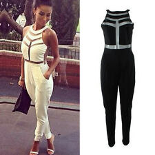 Womens Sexy Celeb Party Evening Bandage All In One Long Pants Jumpsuit Playsuit
