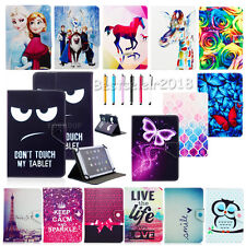 """Universal Cute Print Folio PU Leather Case For 9 10 10.1"""" Inch Tablets PC+Stylus"""