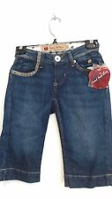 nwt Juniors Woman Apple Bottoms  blue jean shorts .size  1/2  msrp $ 64