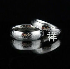 Fancy All Size LOTR Unisex Silver Titanium Band Ring Wedding Width 6mm/4mm
