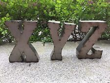"""12"""" Tall Nuevo Recycled Marquee Tin Letters ~ Unpainted ~ Very Cool & Trendy!"""
