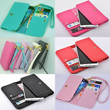 Wallet Card Holder Full multi-func​tion Cover Case with wrist For Prestigio