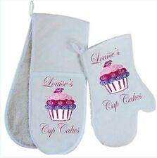 Personalised Cup Cake Kitchen Oven Gloves / Mitt Lovely Christmas GIFT Cooking
