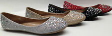 NEW Women Forever WEDDING PROM PAGEANT PARTY Rhinestone Bling Ballet Flats Shoes